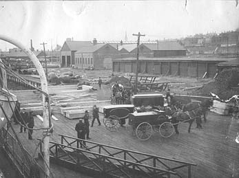 Coffins bearing the bodies of victims of the sinking arrive in Halifax