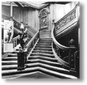 The lovely grand staircase of RMS Olympic