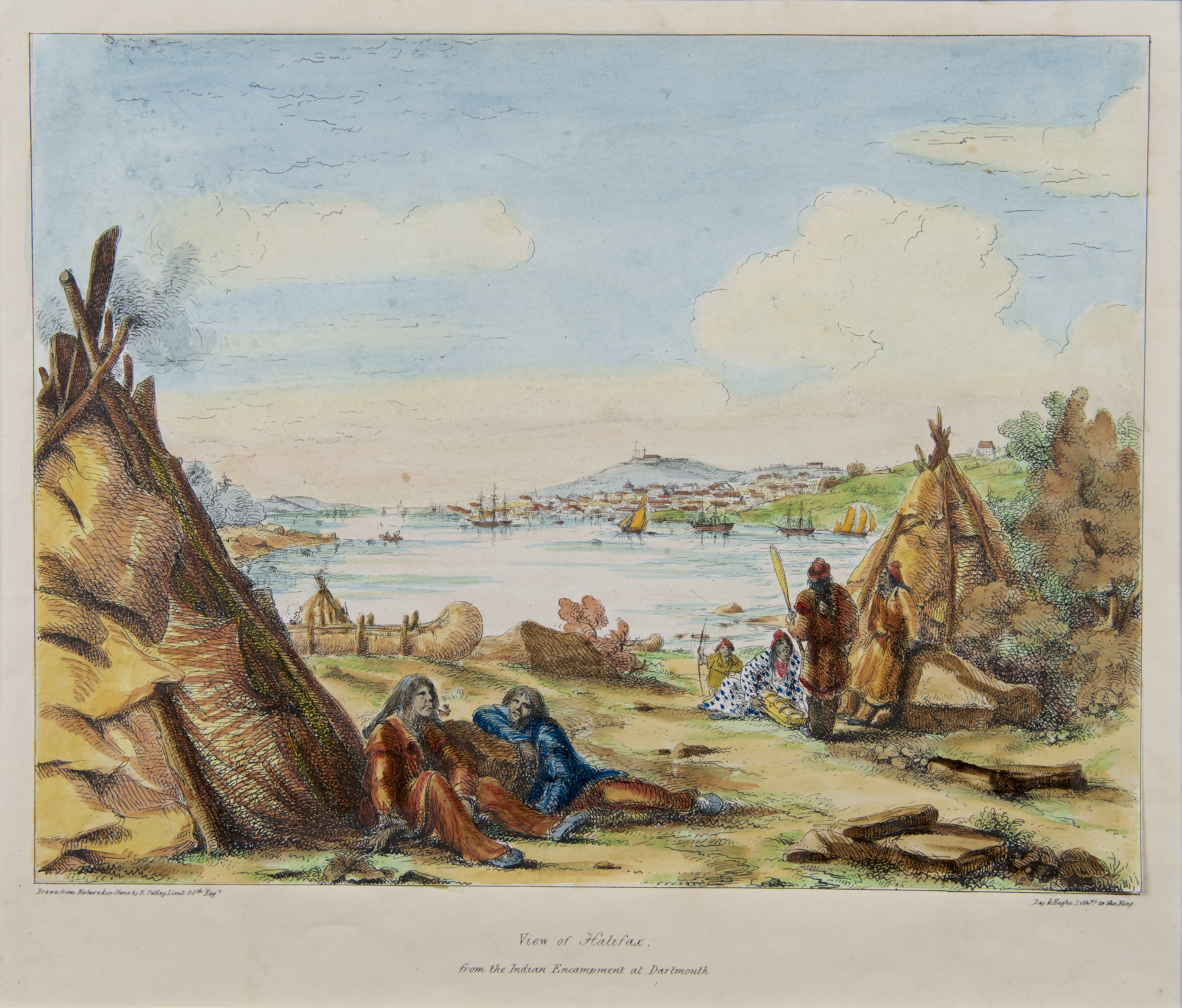 View of Halifax, from the Indian Encampment at Dartmouth, 1837