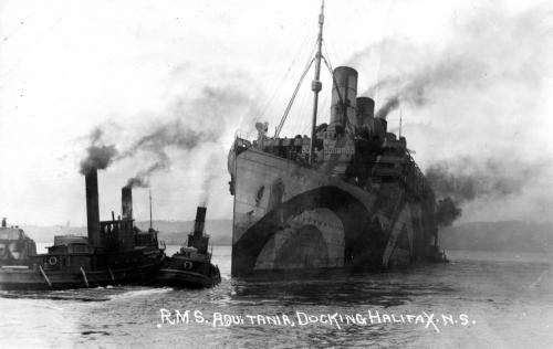 RMS Aquitania In Dazzle Paint At Halifax MMA MP1814112