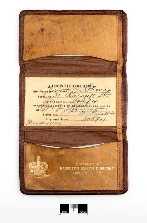 Vincent Coleman's wallet