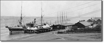 Mackay-Bennett alongside Dockyard wharf