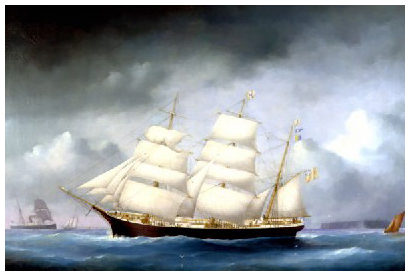 The barque John A. Harvie. M82.47.1