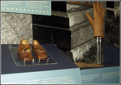Titanic Exhibits Child shoes