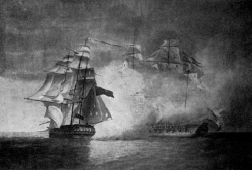 The capture of 'La Tribune' by HMS 'Unicorn', 8 June 1796 (Pocock, 1797)