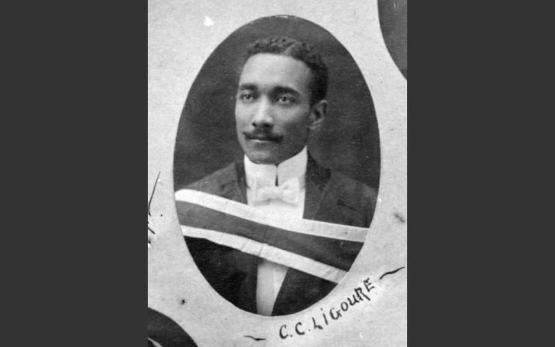 Dr. Ligoure graduation photo (Queen's University Archives, Queen's Picture Collection, 96891)Trinidad-born Halifax doctor Clement Courtenay Ligoure treated up to 180 people a day at his Amanda Hospital on North Street.