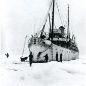 The MMA's museum ship CSS Acadia on her maiden voyage in northern Labrador, 1913.