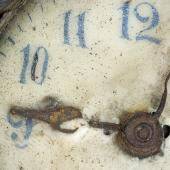 Clock found in explosion wreckage Artifact: NSM #Z3887,